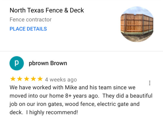 North Texas Fence and Deck Garland TX