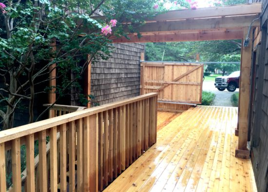 cedar wood deck mckinney Texas
