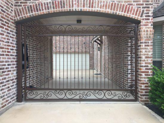 Iron fence gate