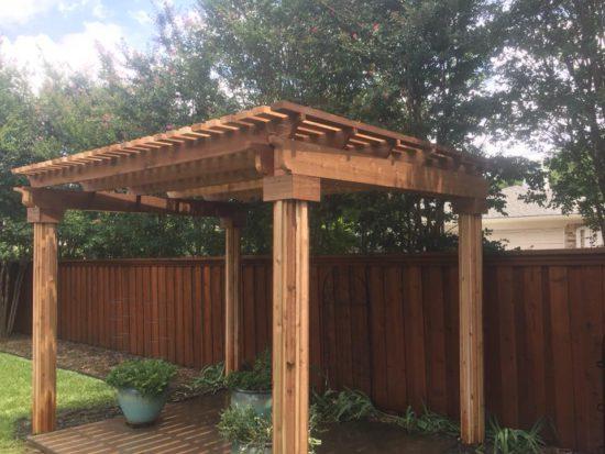 plano pergola and fence