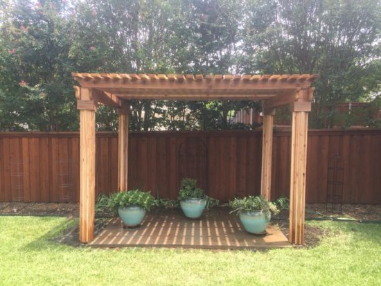 pergola and fence