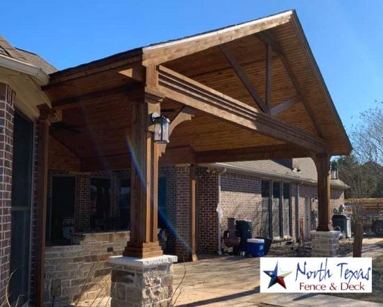 Cedar Patio Cover Frisco TX